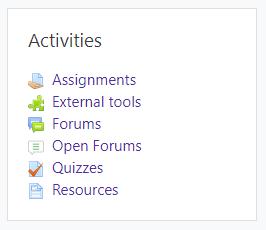 Activities Block