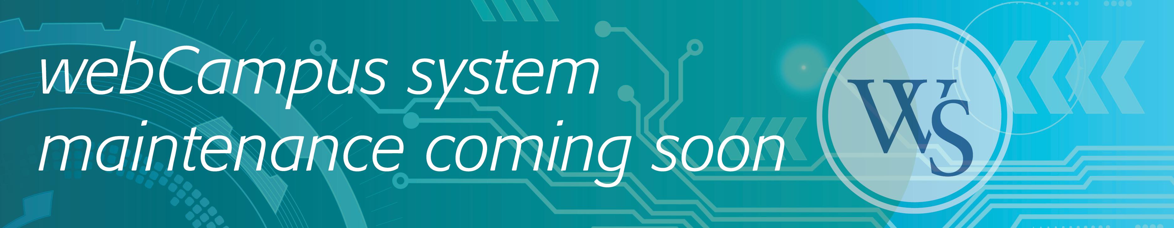 webCampus System Maintenance